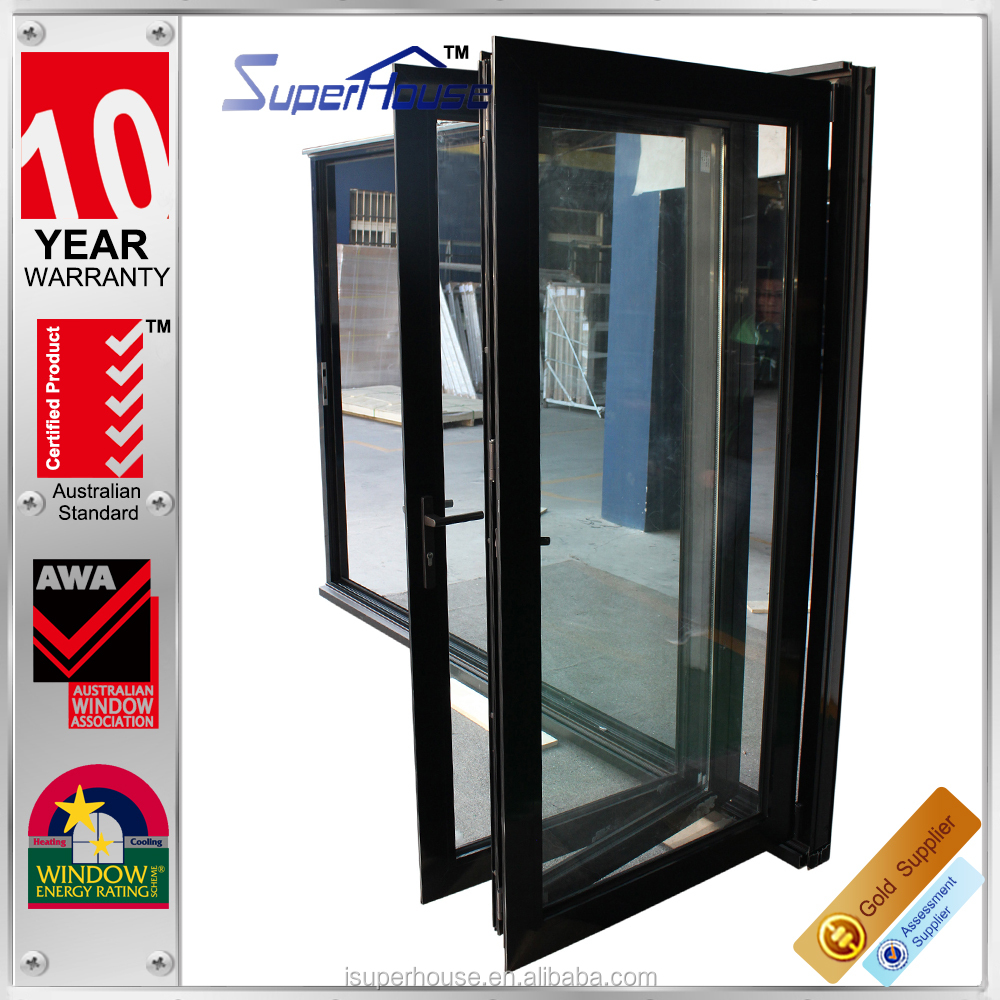 Australian standard AS/NZS2047 double glazed thermal break soundproof folding windows and doors/accordion doors with locks
