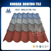 Colorful stone coated corrugated galvanised/Galvalume sheet metel roof