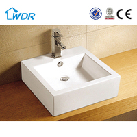 Alibaba new ceramic square design water storage tank and countertop