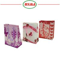 Top grade supply custom oem christmas gift pp rope paper carrier bag pp no woven bag fashion angle dedign gift bags
