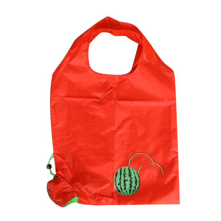 Recycled Eco Cheap Folding Fruit Shape Polyester Nylon Shopping Bag with Pouch