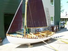 15 foot sailing wooden boat
