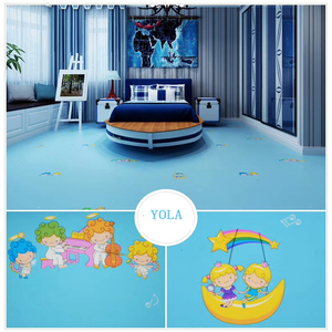 Artistic non-slip foam pvc vinyl sheet flooring in rolls for kindergarten