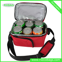 New insulated lunch picnic non woven cooler bag for beer wine bottle pack and frozen food