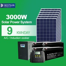 3000W solar power system for family for automobile and ship