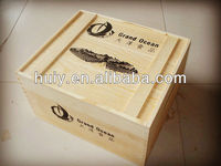 cheap 6 bottles wooden wine case /box/crate