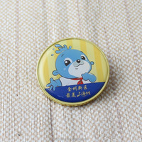 promotion customized epoxy metal pin badge with butterfly clasp