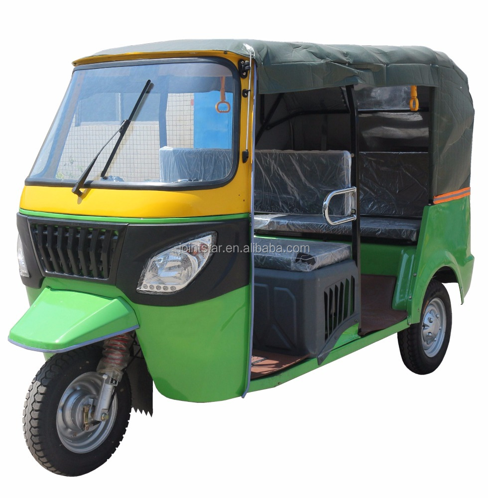 Large Loading Capacity Three Wheel Passenger Motorcycle / 200cc Displacement Moto Taxi Tricycle