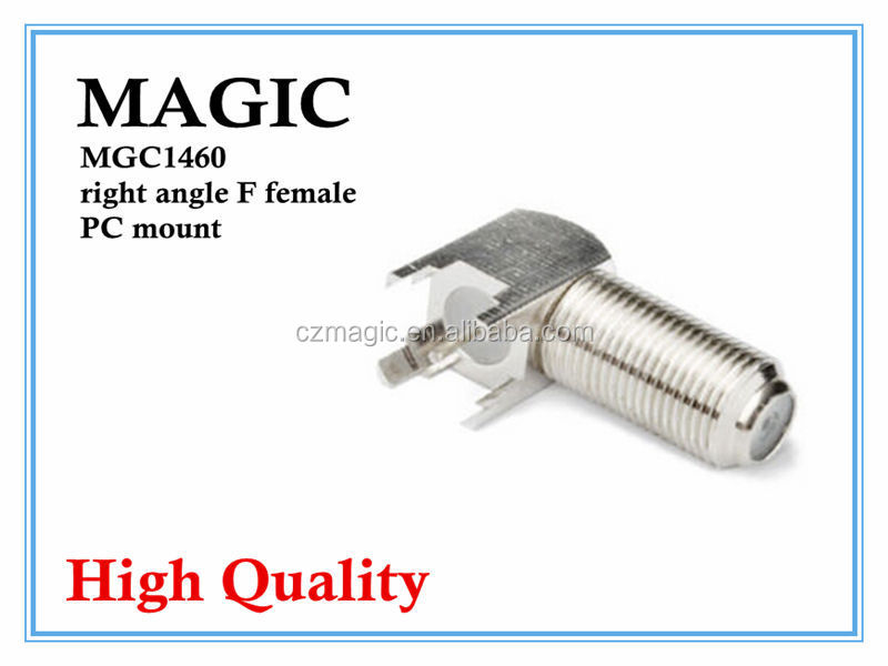 wholesale high quality right angle F female PC mount