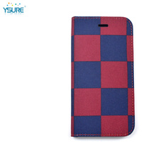 2015 New Design Denim Grid Pattern Leather Case For Pantech Sky VEGA IM-A650S with Card slots and PVC ID slot