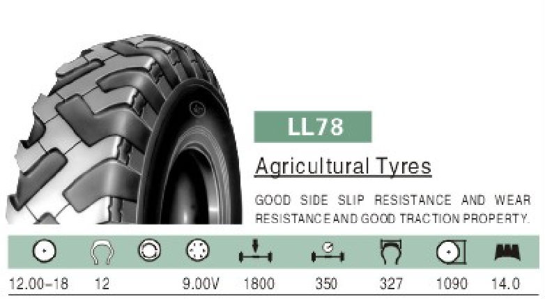 Good multiple function Linglong Agricultural Tyre 12.00-18