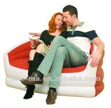 New Inflatable single/double flocked armchair gaming sofa seat lounger relaxing sofa