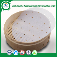 FDA approved non-stick high heat resist food grade steaming paper Dim Sum paper