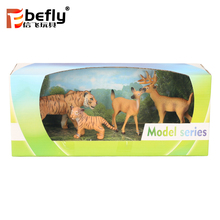Simulations tiger model plastic reindeer toy animal