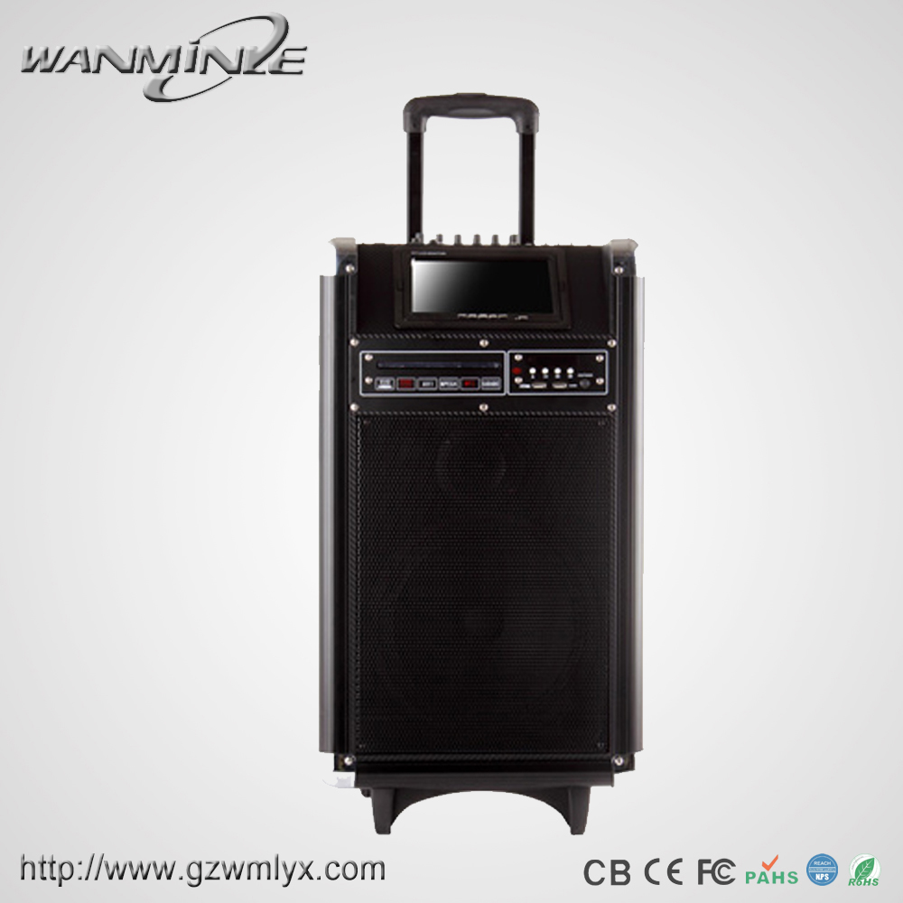 Portable Led Screens : Inch woofer portable led display screen with dvd cd