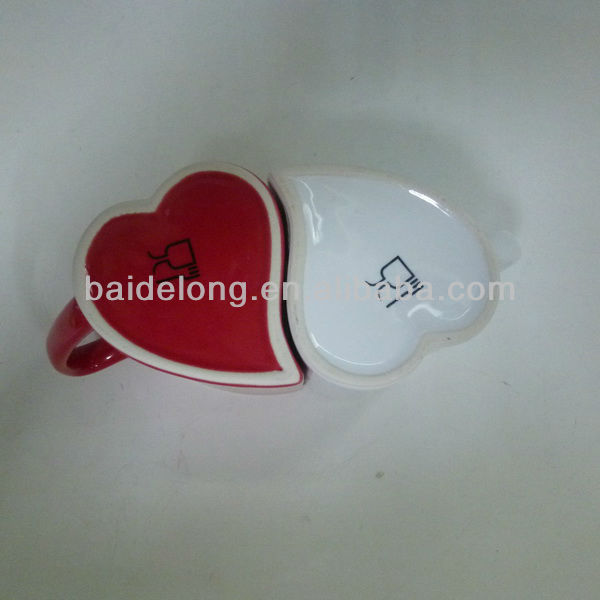 ceramic valentine hearts coffee mug