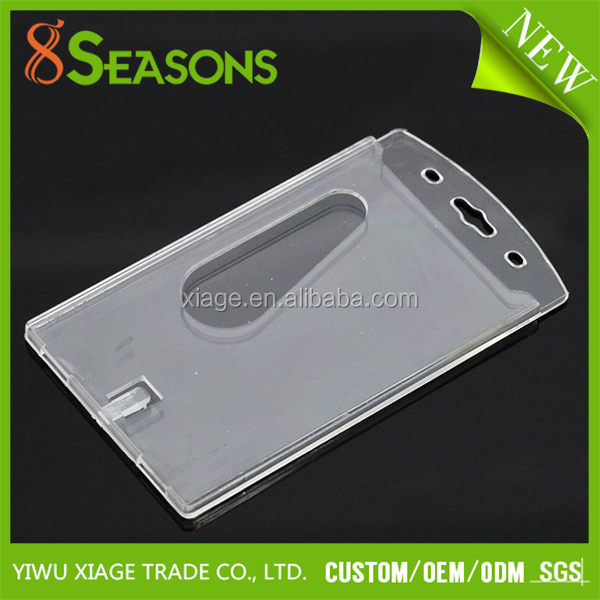 Wholesale Clear Transparent Vertical Plastic Hard ID Card Badge Holder