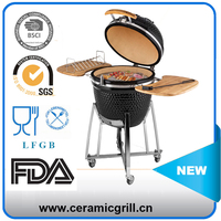 Home Kitchen Appliance 21 Inch Outdoor BBQ Grill Porcelain Egg Grill