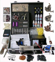 High Quality 2 Rotary Tattoo Machine Guns Tattoo Mini Kit / Free Tattoo Kits / Wholesale Price Cheap Tattoo Kits