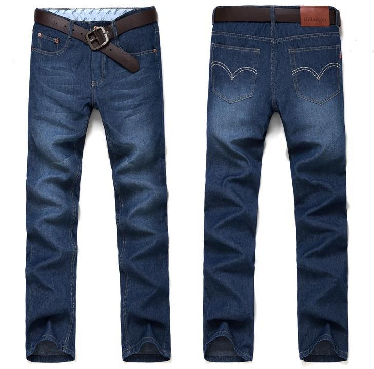 New Famous Brand Denim long Jeans Men Fashion Slim Straight Ripped Jeans high quality leisure & casual mens jeans pants trousers