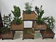 Wholesale outdoor stackable planters plastic modular planter boxes