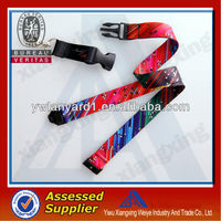 2016 all different cheap custom silkscreen/heart- transfer sublimation printing lanyard