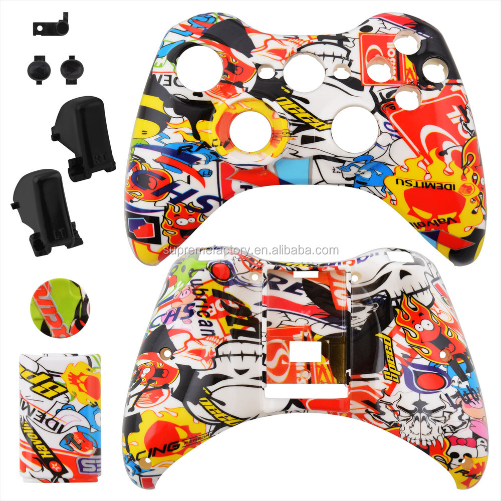 For Xbox 360 Sticker Bomb Wireless Controller Shell Pattern Series