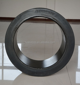 Press-on solid tire 22x12x16