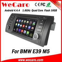 Top Version Android 4.4.4 car dvd 1 din car audio system for bmw e39 mirror link tv tuner 1995-2003