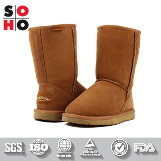New Arrive promotional super work fashion women boot,child fur winter boot,lady leather