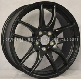 Matt black replica work emotion car aluminum wheel