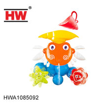 Crab feature plastic bath toys mini water wheel for kids
