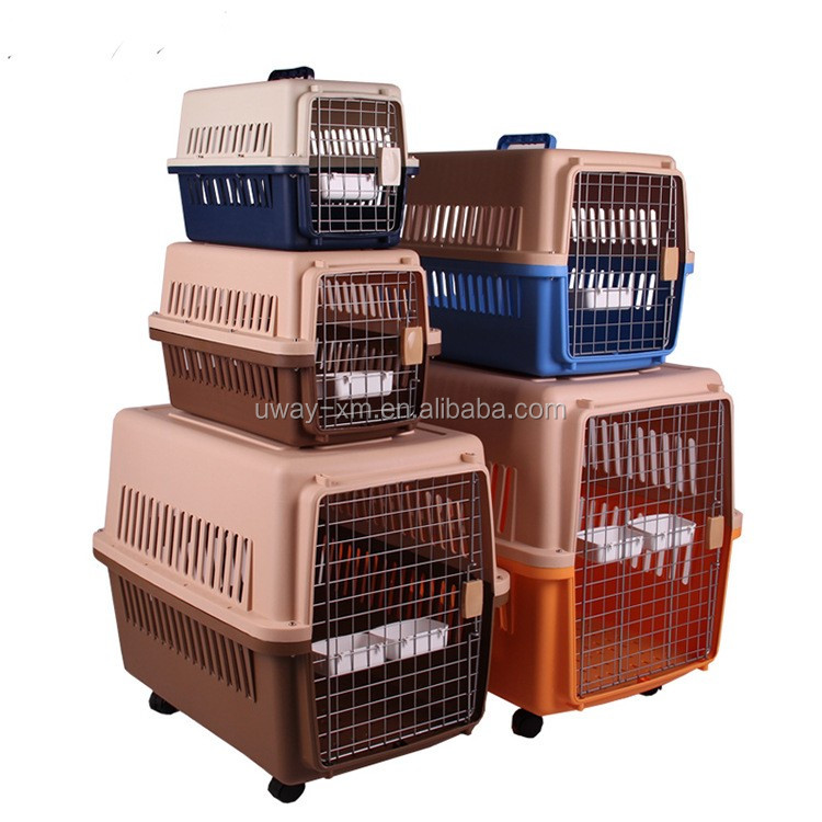 Full size wholesale pet air flight carrier/cage for dogs