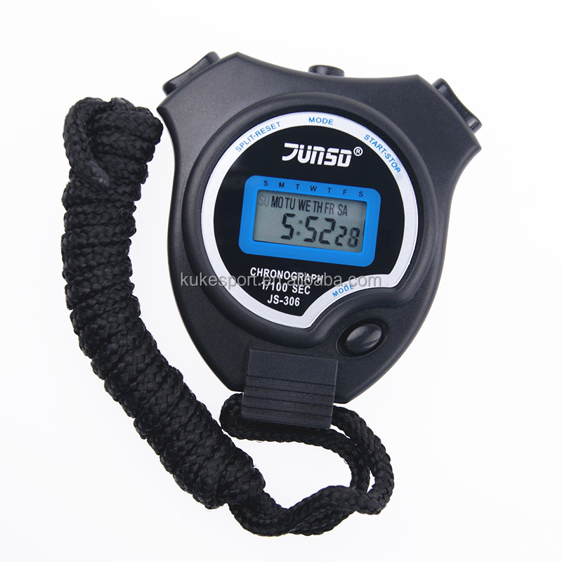 Brand new 1 row 2 memories 1/100 sec sport stopwatch good quality timer