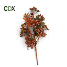 Thanks giving decorative ornament Maple Fall Leaf Pick with Decorative Pumpkin carfts Artificial Fabric Flowers