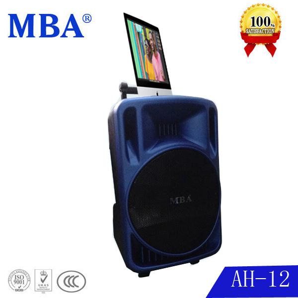 MBA 12 inch professional portable plastic molded speaker cabinet