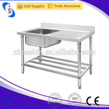 Big Size Single Bowl Stainless Steel kitchen sinks of CE and ISO9001 standard