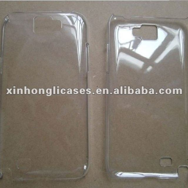 new arrival for Samsung GALAXY Note II N7100 raw plastic case with high quality