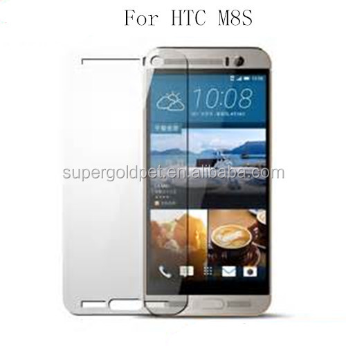0.33mm 9h crystal clear cell phone tempered glass screen protector for HTC m8s