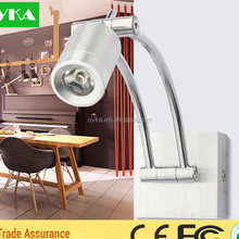 Wholesale Price Led Bedside Reading Lamp 150mm Length Swing Arm Led Wall Reading Lamp Hotel Bed Room Wall Lamp