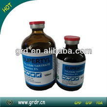 Antibiotics Tylosin Tartrate Injection 20% for Sheep/Camel