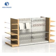 Black grocery store shelf metallic shop retail display stand racks supermarket gondola shelving