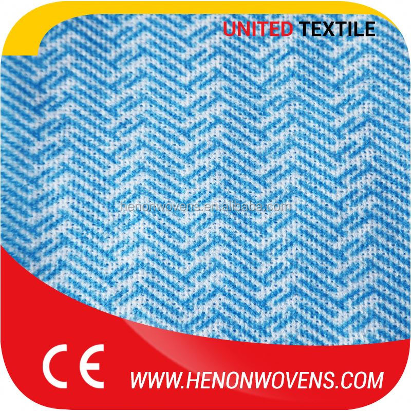 Color Fastness Bamboo Fiber, Viscose And Polyester Material Nonwoven Mesh Spunlace Fabric
