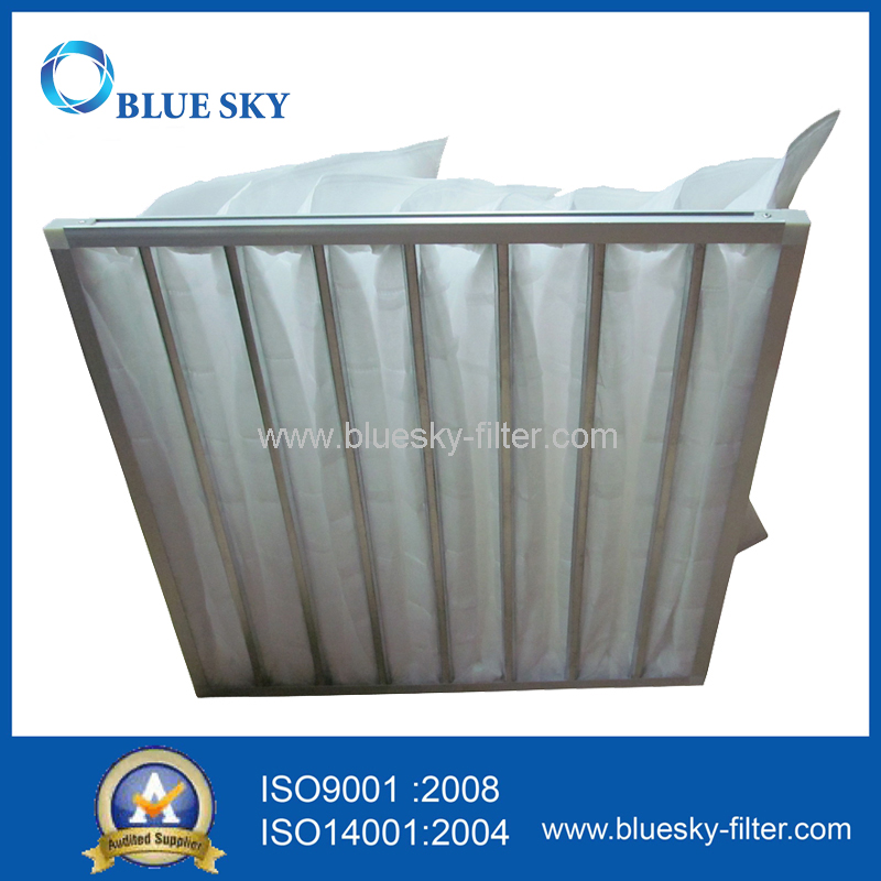 Middle Efficiency Synthetic Fiber Pocket Air Filter Bag for Air Conditioning Ventilation System