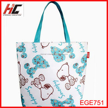 promotional most popular snoopy shopping bag cheap Oxford cloth tote bag