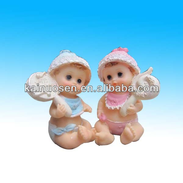 polyresin lovely baby fairness figure for home decoration