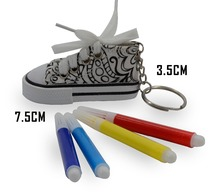 Promotional DIY shoe style sample free custom key chain ring