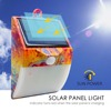 Led solar power supply outdoor wall garden pack led light