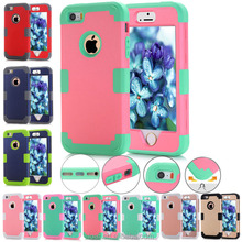 New Arrival Hybrid Combo Shockproof Durable Defender armor Case Cover For iphone 5 5s 5c ipod touch 5