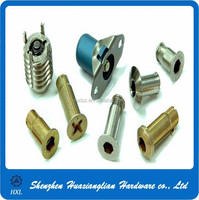 Customized different decorative plastic and stainless steel removable panel fasteners
